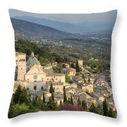 View Over Assisi Throw Pillow