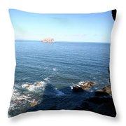 View Over Bass Rock Throw Pillow