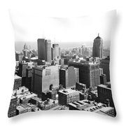 View Over Downtown Chicago Throw Pillow