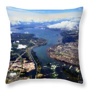 View Over Lasalle Montreal Throw Pillow
