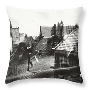 View Over Rooftops In Amsterdam  George Hendrik Breitner  C  1890    . 1910 Throw Pillow