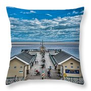 View Over The Pier Throw Pillow