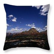 View Overlooking Sedona, Arizona Throw Pillow