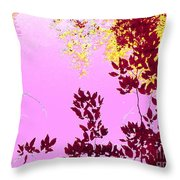 Colored View Throw Pillow