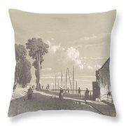 View The Veerweg Culemborg, Jan Weissenbruch, 1847 - 1865 Throw Pillow