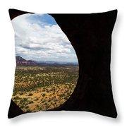 View Through A Portal, Sedona, Arizona Throw Pillow