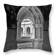 View Through An Arch Throw Pillow