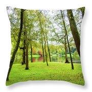 View Through The Trees Throw Pillow