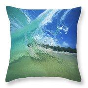 View Through Wave Throw Pillow