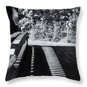 View Thru Ware Covered Bridge Throw Pillow
