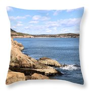 View To Sand Beach Throw Pillow
