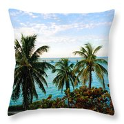 View To The 7 Mile Bridge Throw Pillow