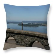 View To The West Of Crown Point Throw Pillow