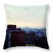 View Toward Saint Lawrence Throw Pillow