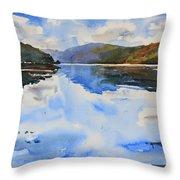 View Towards Skye Throw Pillow