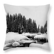 View Upriver Throw Pillow