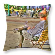 Viewing Man Throw Pillow