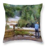 Viewing Tahquamenon Lower Falls Upper Peninsula Michigan Pa Throw Pillow
