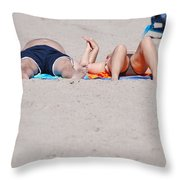 Views At The Beach Throw Pillow