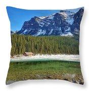 Views From Lake Louise Alberta  Throw Pillow
