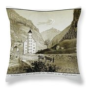 Views Of Switzerland And The Border Of Italy Throw Pillow