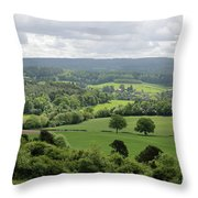 View Of The Surrey Hills From Newlands Corner Throw Pillow