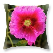 Vigenetted Hollyhock Throw Pillow