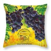 Vigne De Raisins Throw Pillow by Debbie DeWitt