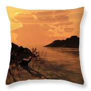 Viiew On The Day Of My Birth Throw Pillow