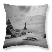 Vik Iceland Bw Throw Pillow