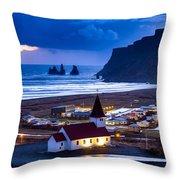 Vik Iceland Throw Pillow