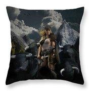 Viking Gefjon Throw Pillow