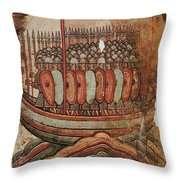 Viking Invasion 919 Throw Pillow