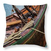 Viking Ship Rigging Throw Pillow
