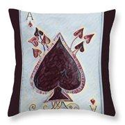 Vikings Ace Of Spades Throw Pillow