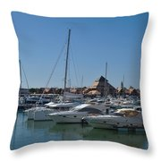 Vilamoura Marina 5 Throw Pillow