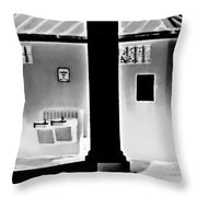 Vilano Beach Pavilion Restroom Throw Pillow