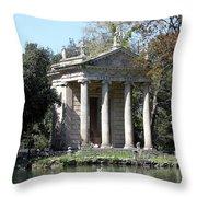Villa Borghese Park Throw Pillow