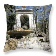 Villa Borghese River Throw Pillow