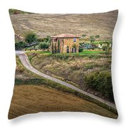 Villa In Tuscany, Italy Throw Pillow