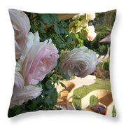 Villa Roses Throw Pillow