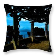 Villa San Michele At Anacapri, Italy - Painting Throw Pillow