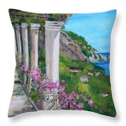 Villa San Michele In Anacapri Throw Pillow