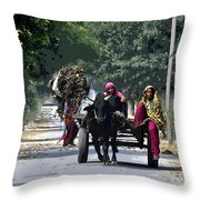 Village And The Women Throw Pillow