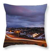 Village At Twilight Throw Pillow
