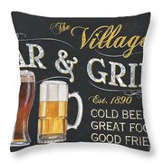 Village Bar And Grill Throw Pillow