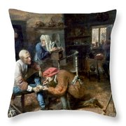 Village Barber-surgeon Throw Pillow