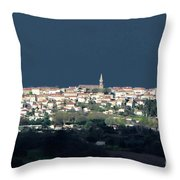 Village Before The Storm Throw Pillow