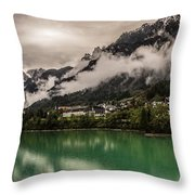 Village By The Lake Throw Pillow