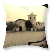 Village Chapel Throw Pillow